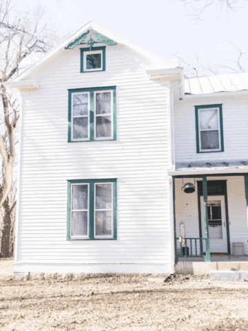 Farmhouse restoration before pictures