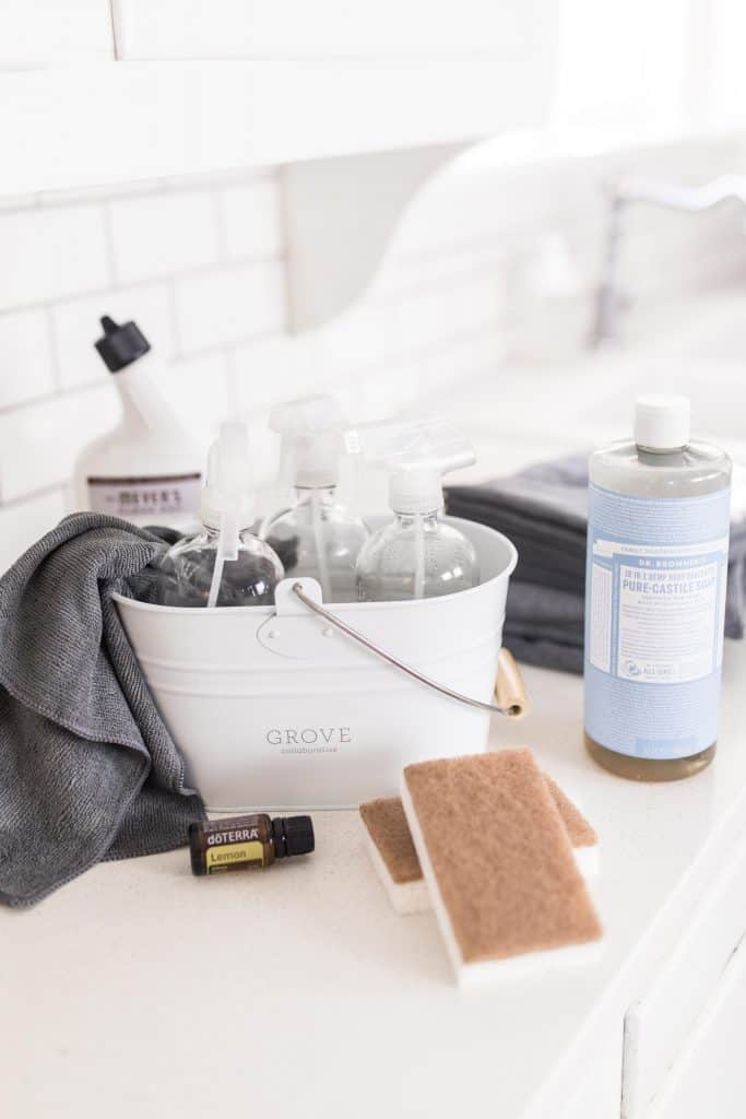 Minimalist Cleaning essentials everything you need to clean your house without chemicals and a bunch of products