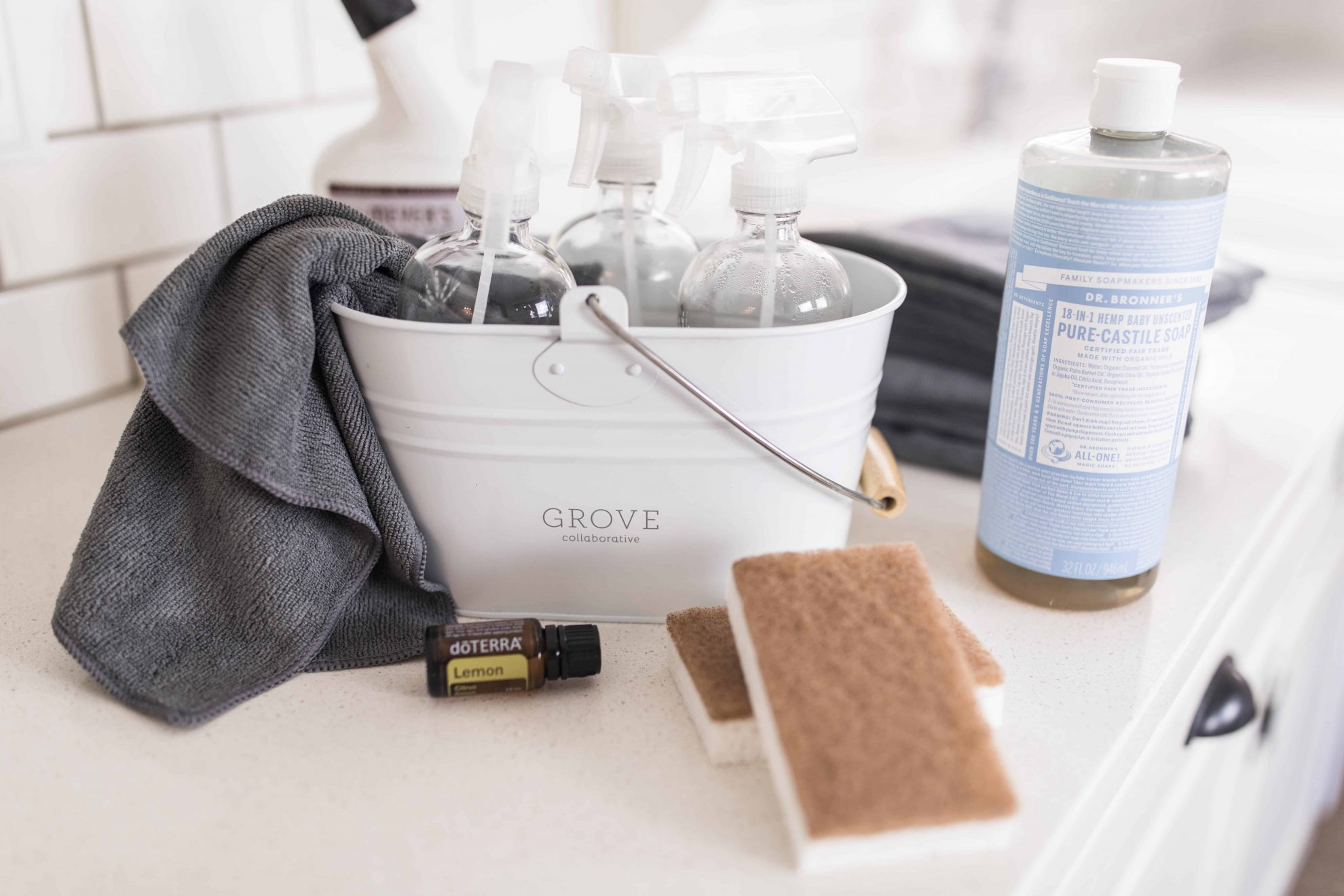 Minimalist cleaning essentials for a clean home with fewer supplies nontoxic and all natural