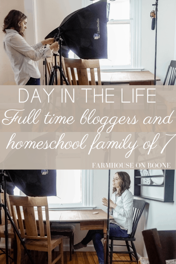 Full time bloggers and homeschool family of 7 - Day in the Life