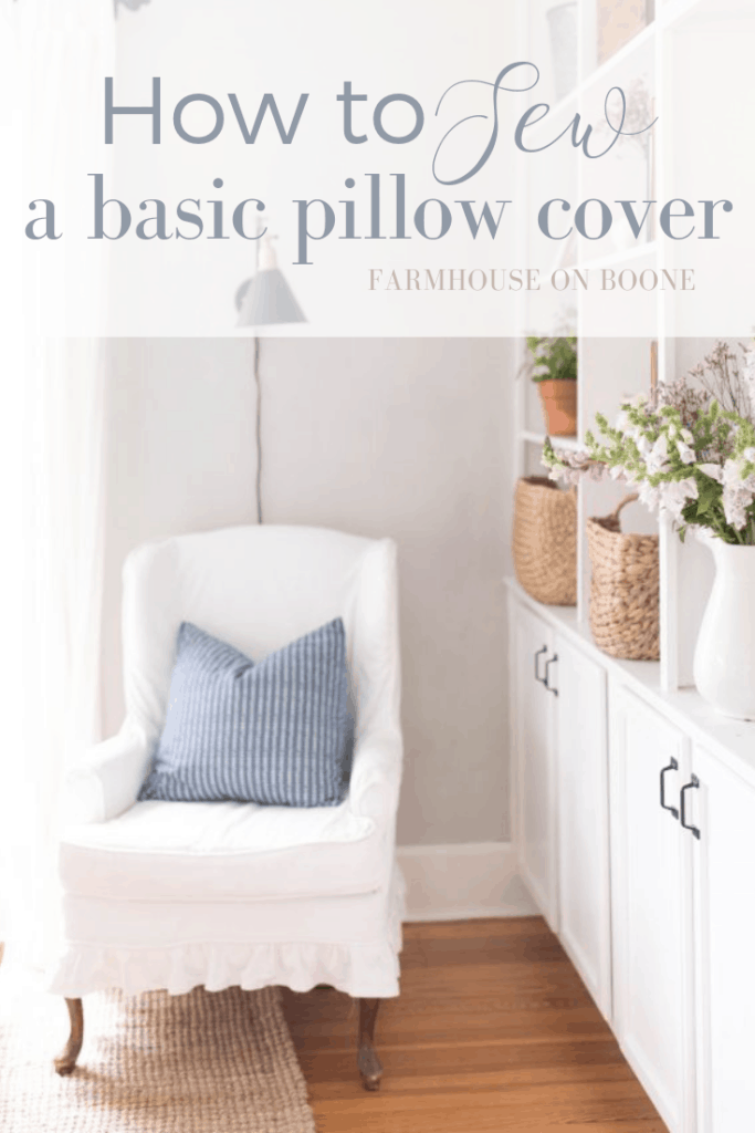 How to sew a pillow cover sewing tutorial for beginners