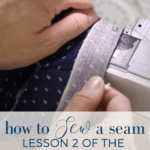 How to sew a seam Simple sewing Series with Farmhouse on Boone
