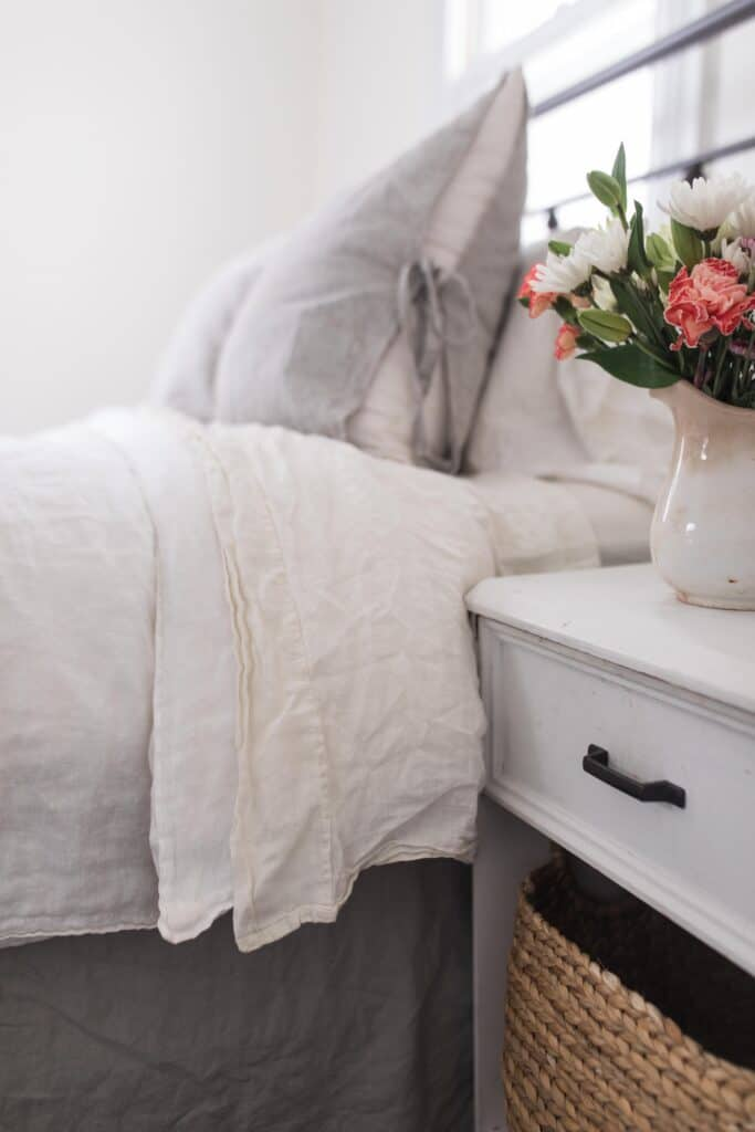 farmhouse linen sheets