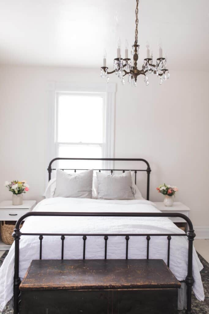Farmhouse Master Bedroom Tour in the New Farmhouse | Cozy Bedroom ...