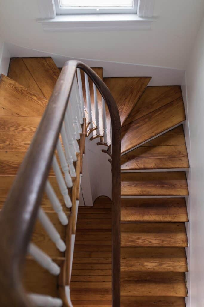 victorian farmhouse stairs heart pine flooring refinished victorian stairs farmhouse restoration