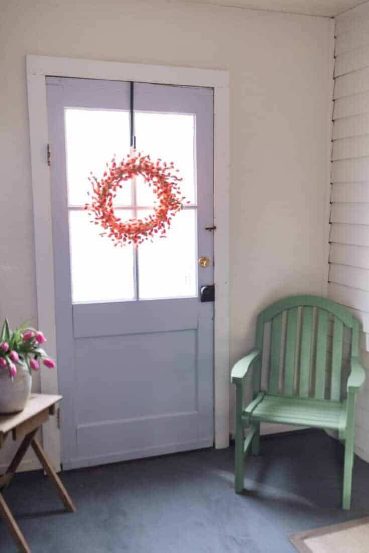 Farmhouse Mudroom Makeover in the Homestead Color Palette