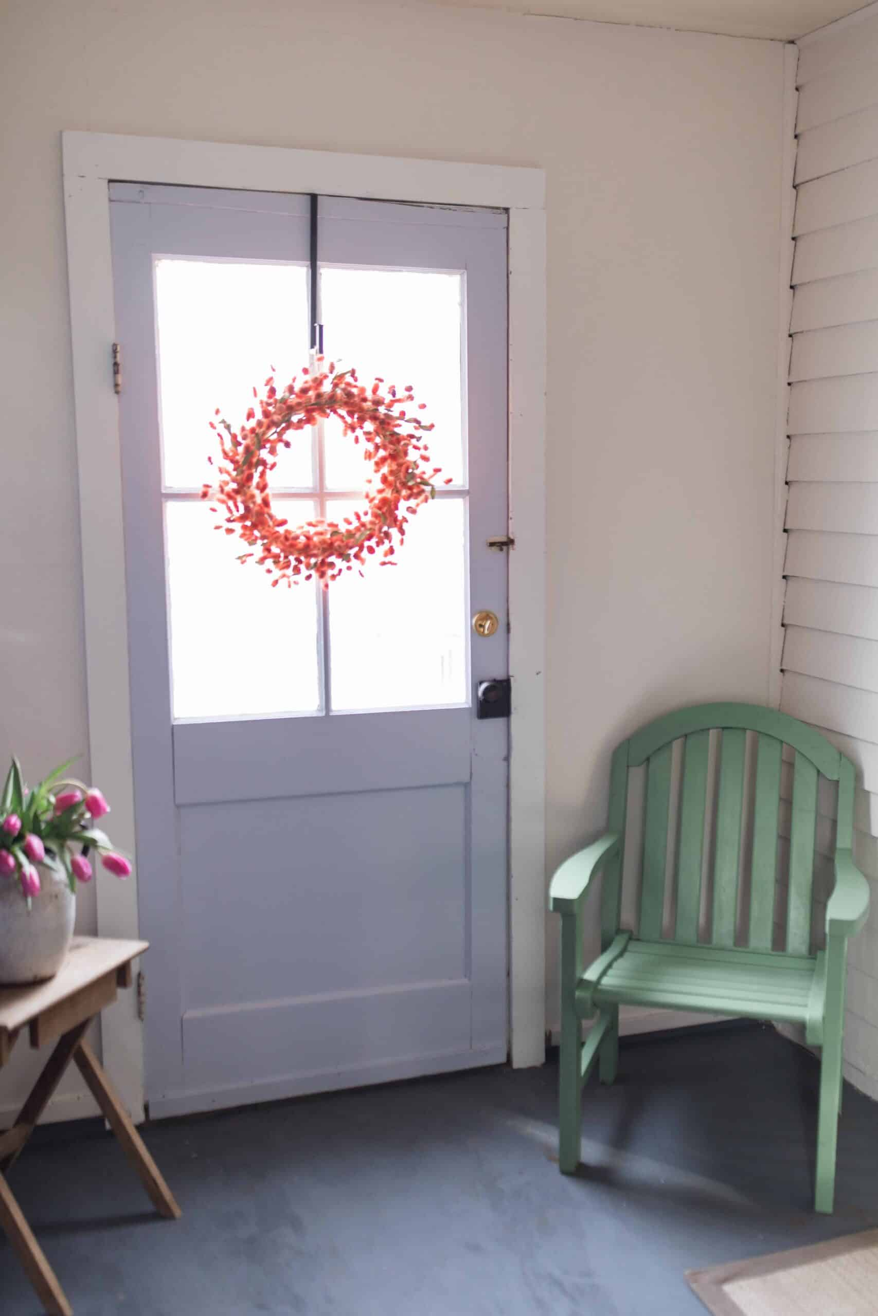 Farmhouse mudroom makeover dutch boy homestead color palette