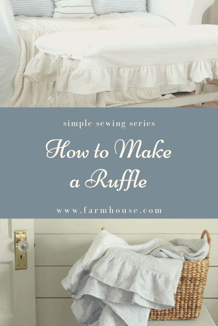 How to Make a Ruffle - Farmhouse on Boone