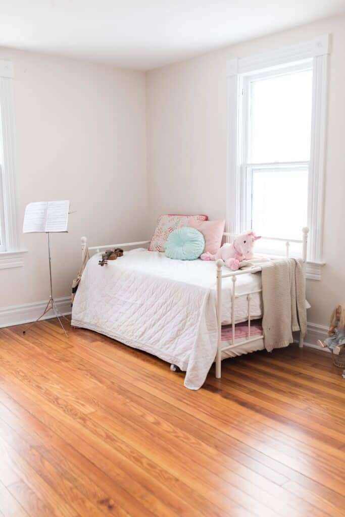 Our new Farmhouse Reveal After Refinishing the Wood Floors and Paint ...