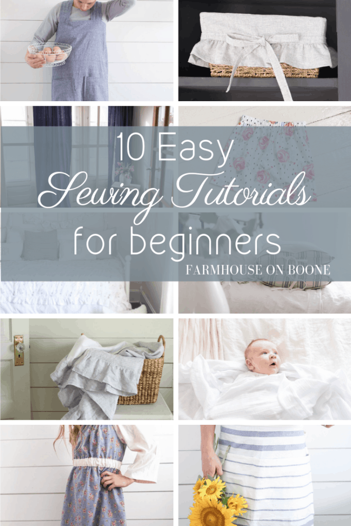 10 Easy Sewing Tutorials for Beginners - Farmhouse on Boone
