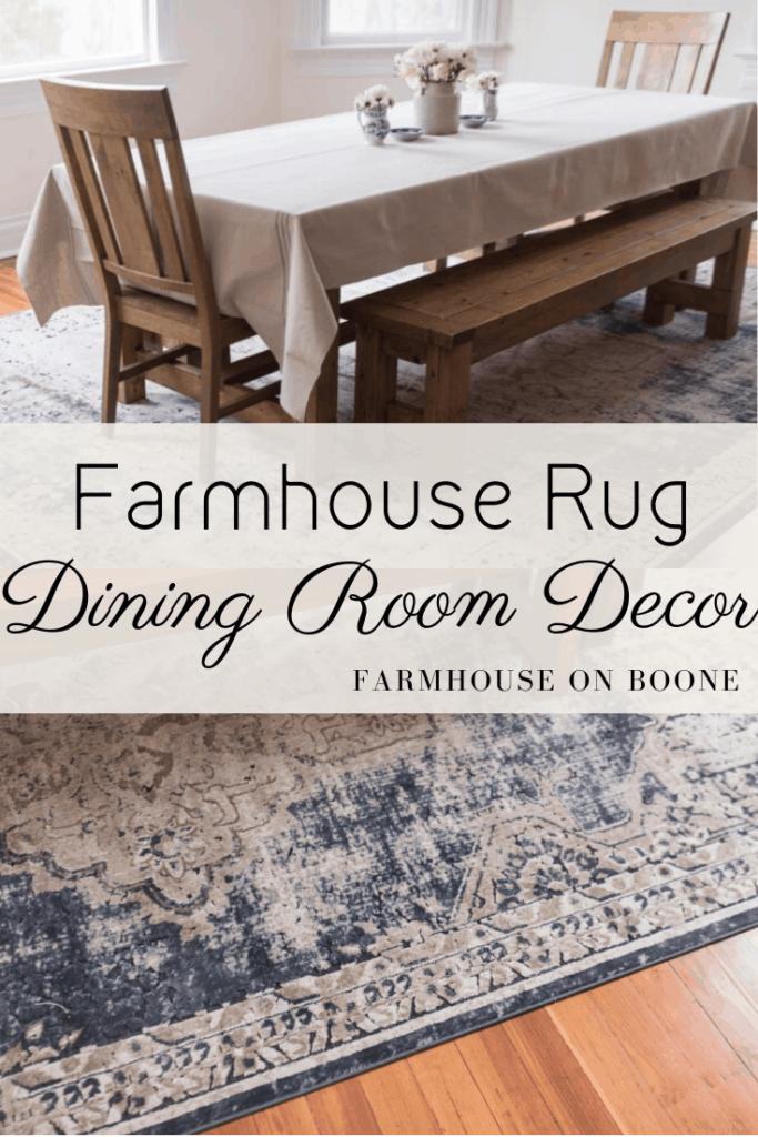 Farmhouse Dining Room Decor, Farmhouse Style Dining Room Rugs