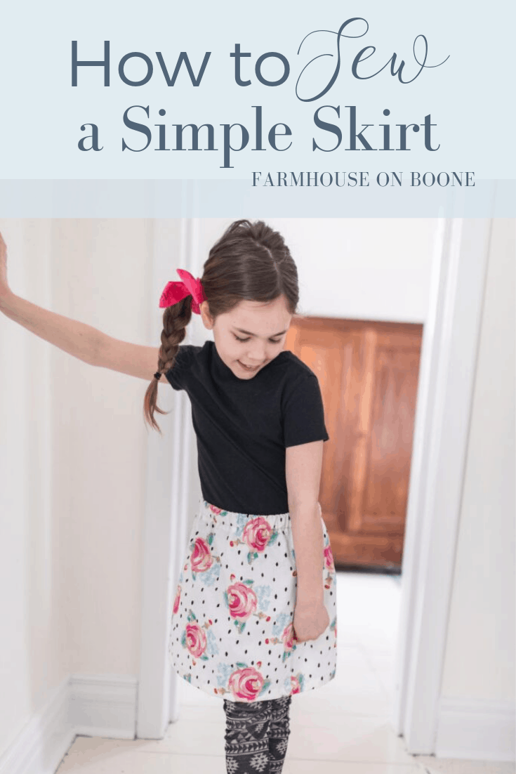 How to Sew a Simple Skirt - Farmhouse on Boone