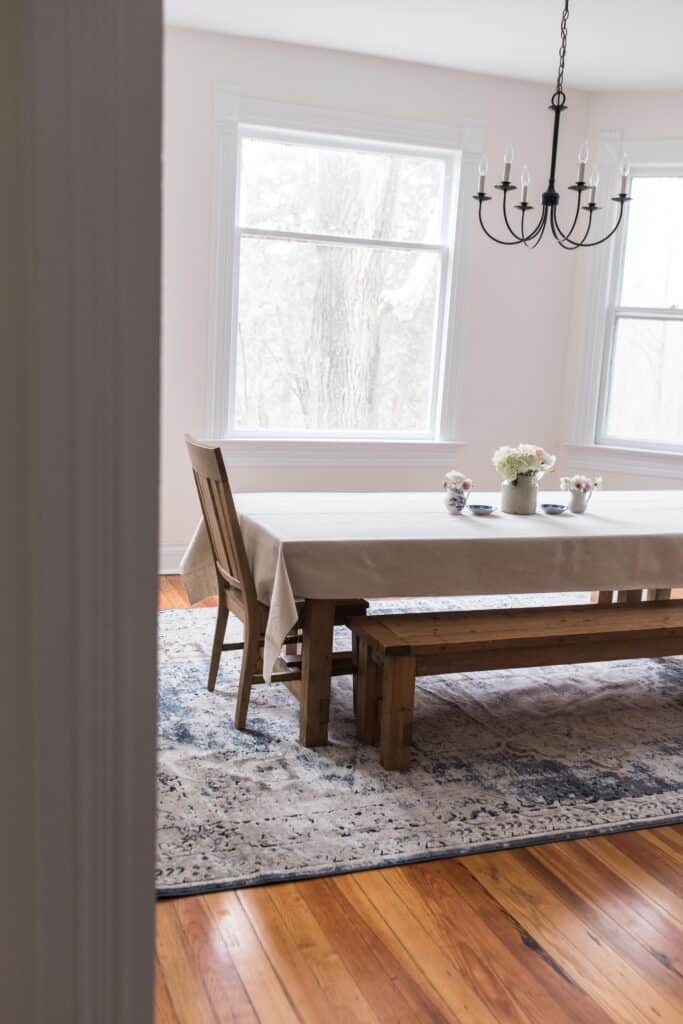 New Rug For The Dining Room Farmhouse Dining Room Decor