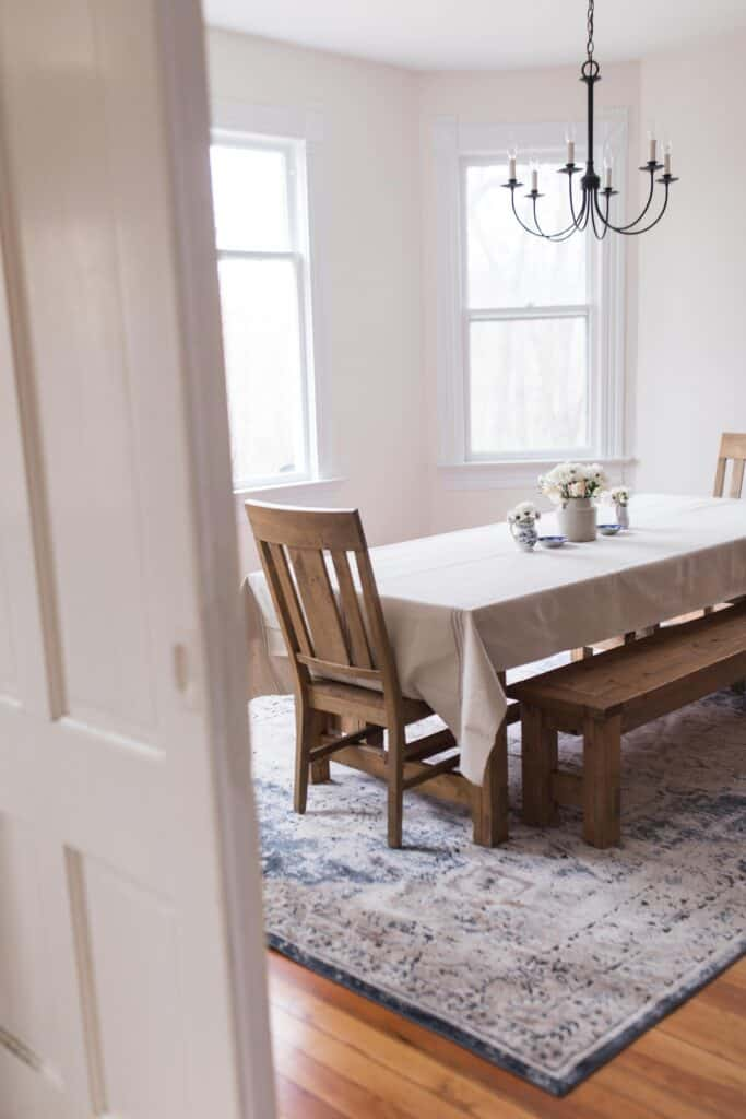 New Rug For The Dining Room Farmhouse Dining Room Decor Farmhouse On Boone