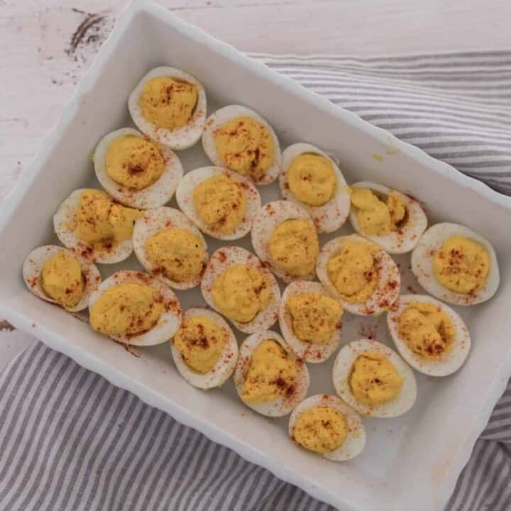 How to make hard boiled eggs in the instant pot and my favorite deviled eggs recipe