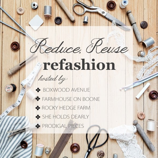 reduce reuse refashion blog hop