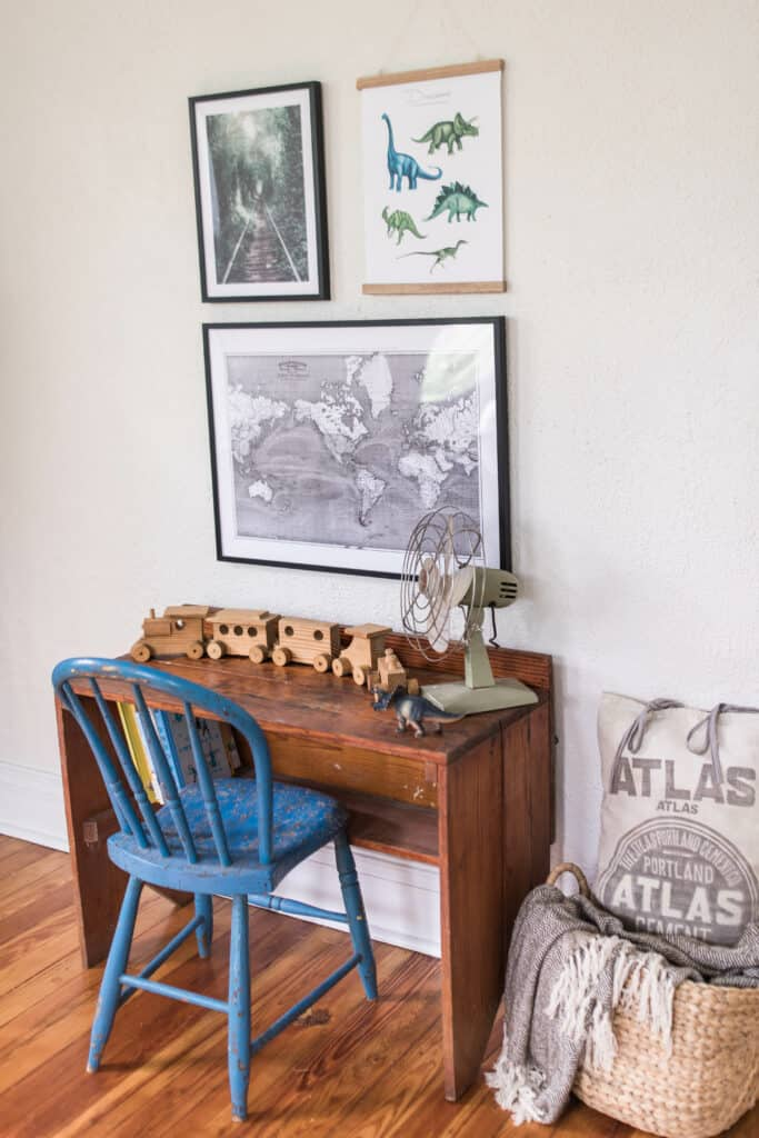 farmhouse boys room gallery wall