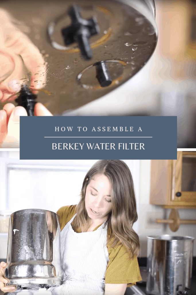 how to put together a berkey water filter