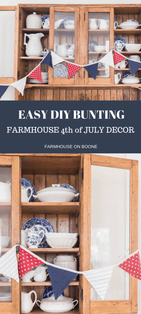 EASY DIY bunting fourth of july decor
