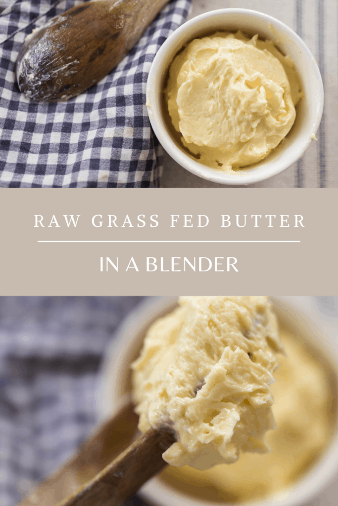 How to make raw milk butter in a blender grass fed butter homemade