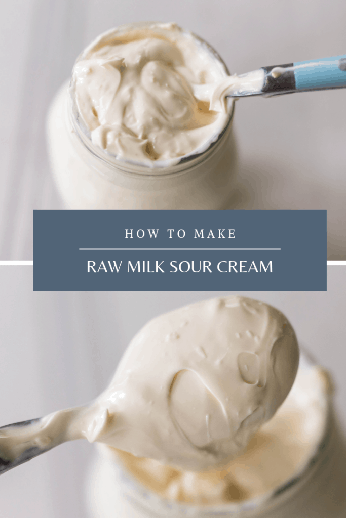 How to Make Sour Cream from Raw Milk