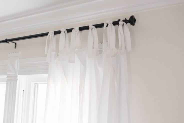 How To Make Curtains - Tie-Top Curtain Tutorial