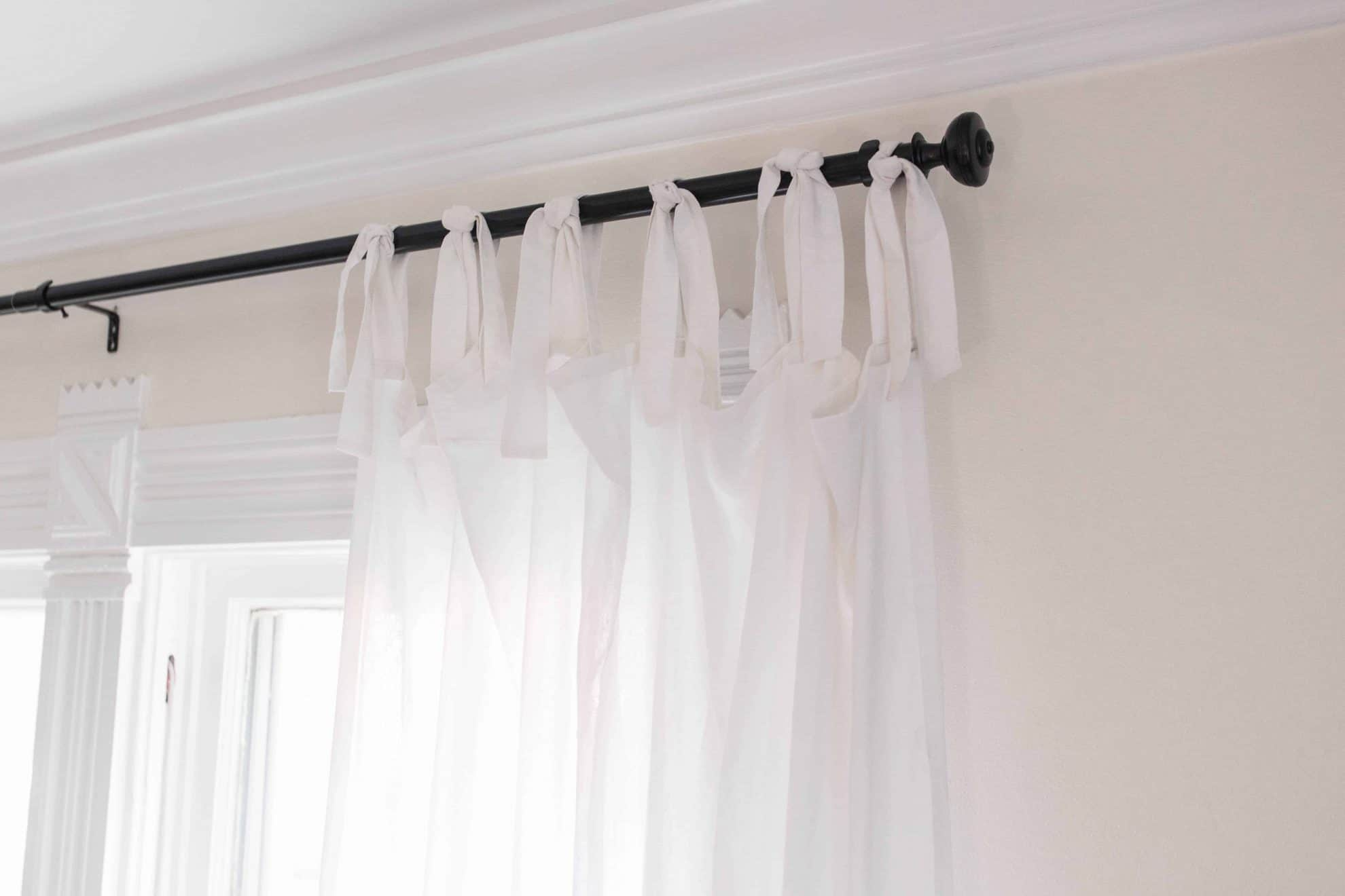 How To Make Curtains Tie Top Curtain Tutorial