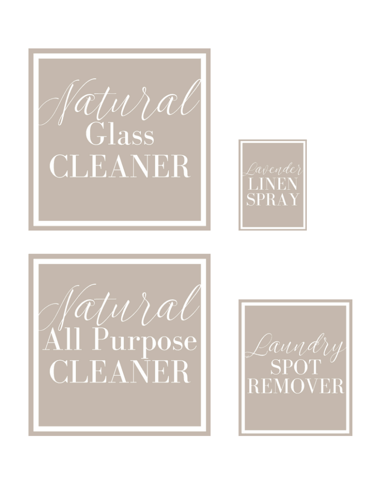 Cleaning labels