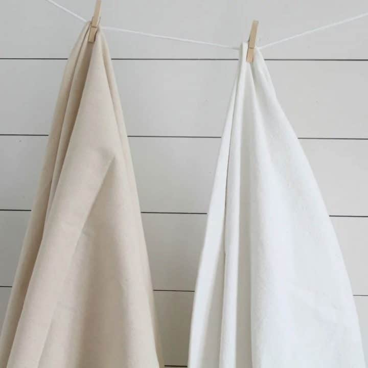 How to Bleach Drop Cloth