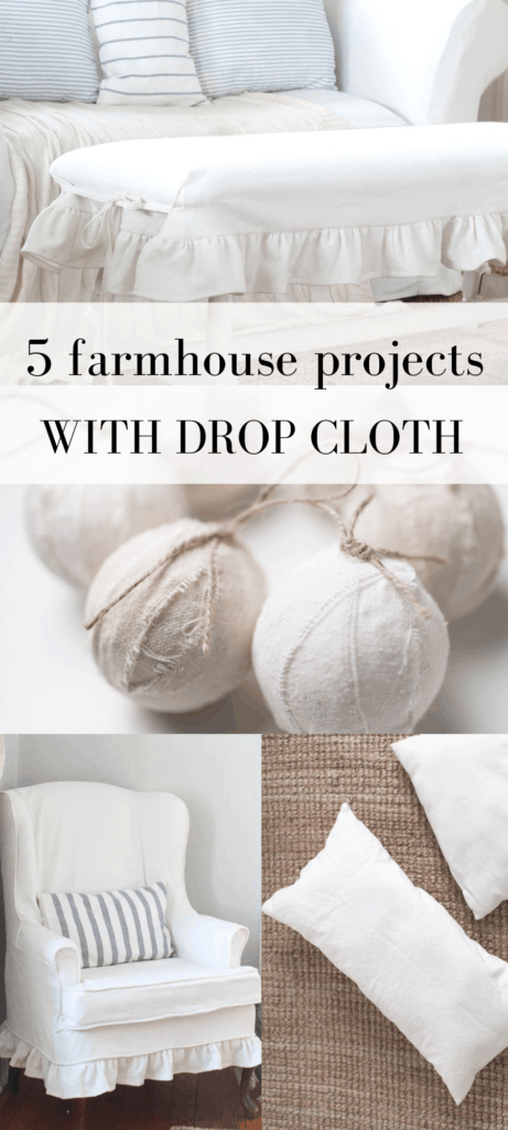drop cloth diy projects collage