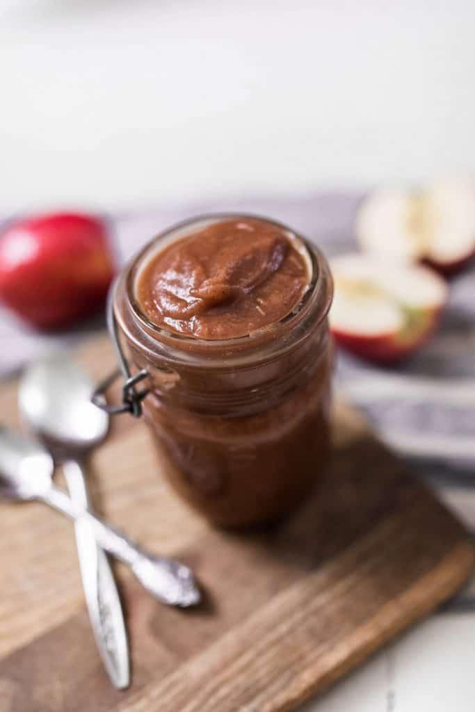 apple butter in jar