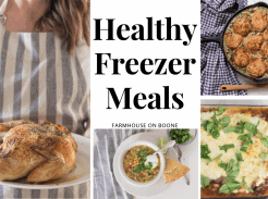 4 pictures of healthy freezer meals