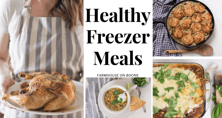 4 pictures of healthy freezer meals