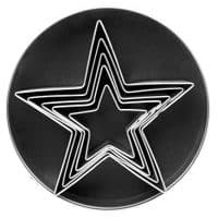 Fox Run 3686 Stainless Steel Star Cookie cutters, 1 x 3.5 x 3.5 inches, Metallic
