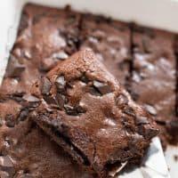 Fudgy Peppermint Coconut Flour Brownies