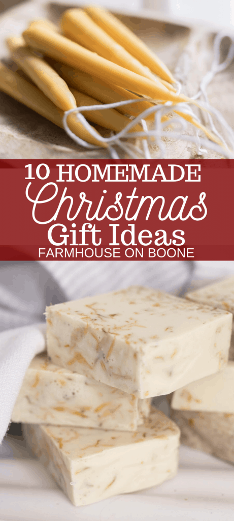10 homemade Christmas gift ideas : handmade candles and soap
