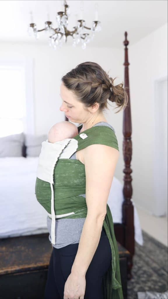 Women with a DIY Mei Tai on - best baby carriers