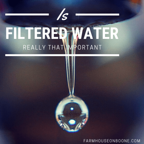 is filtered water really that important