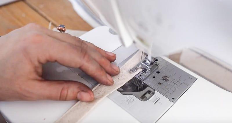 top stitching a strap