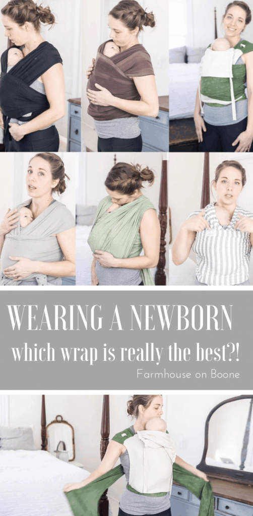 woman wearing baby wraps