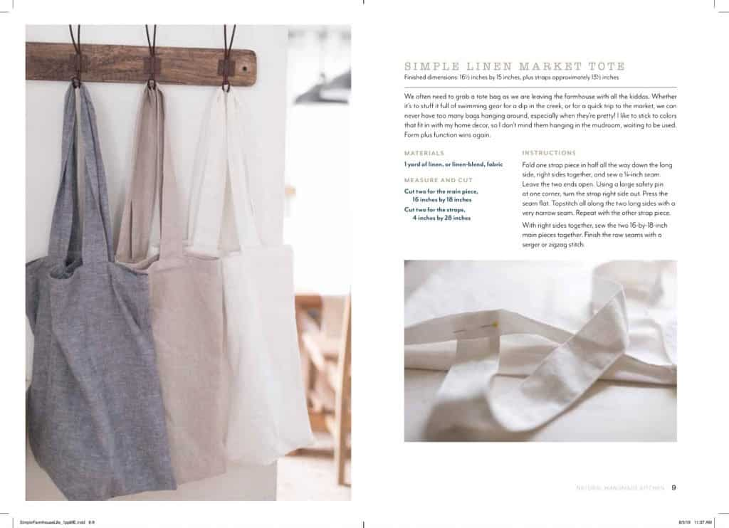 How to make a simple linen market tote