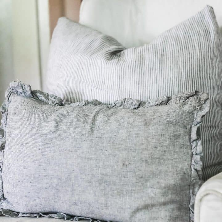 Ruffle Linen Pillow Cover Sewing Pattern