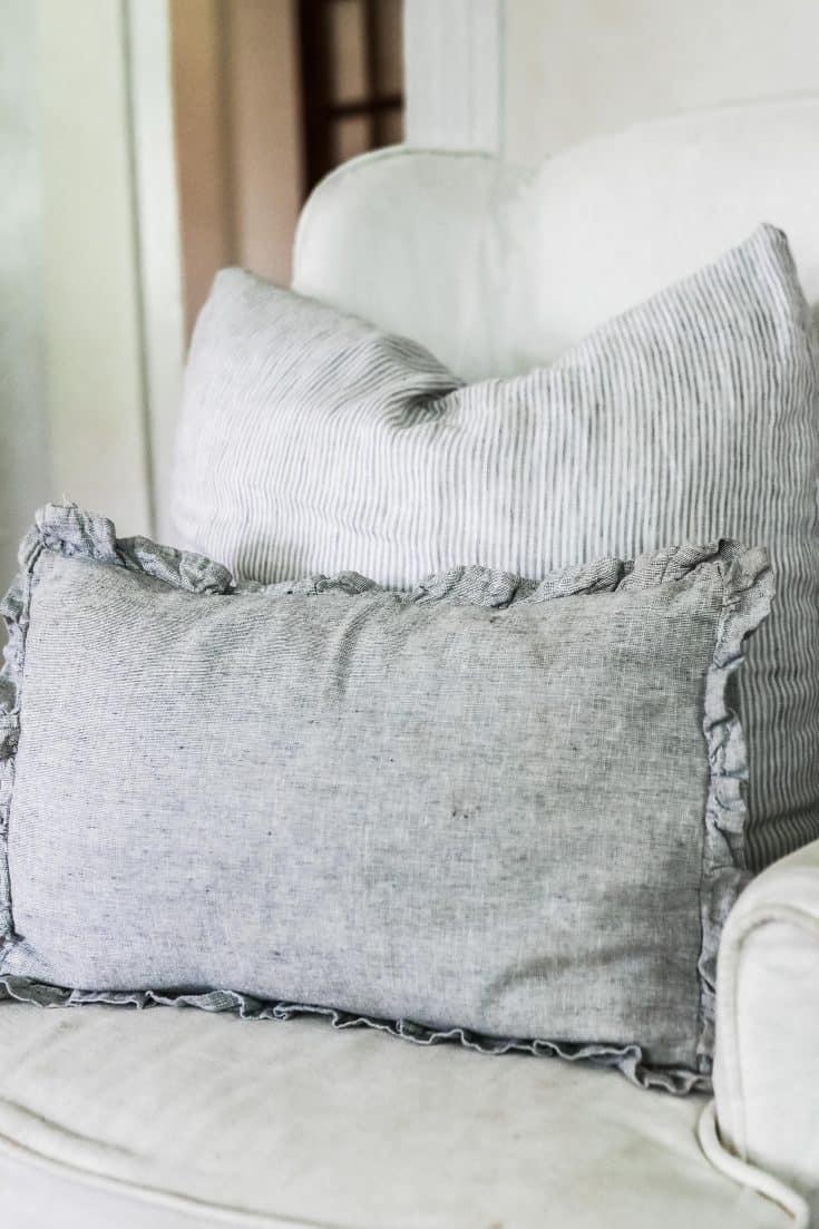 Ruffle Linen Pillow Cover Sewing Pattern