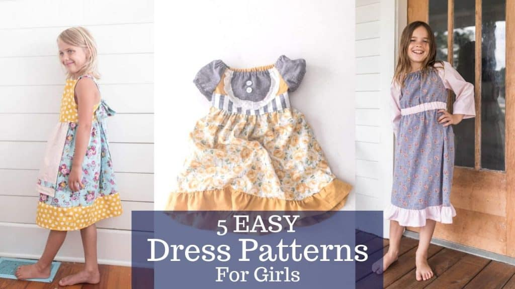 3 pictures of easy dress patterns for girls