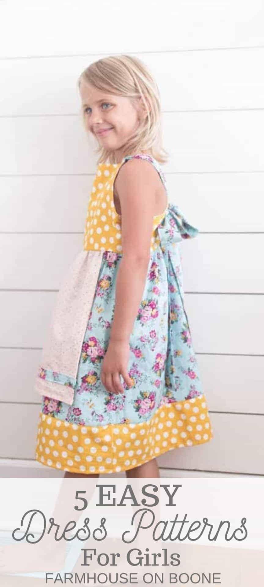 girl wearing a homemade dress