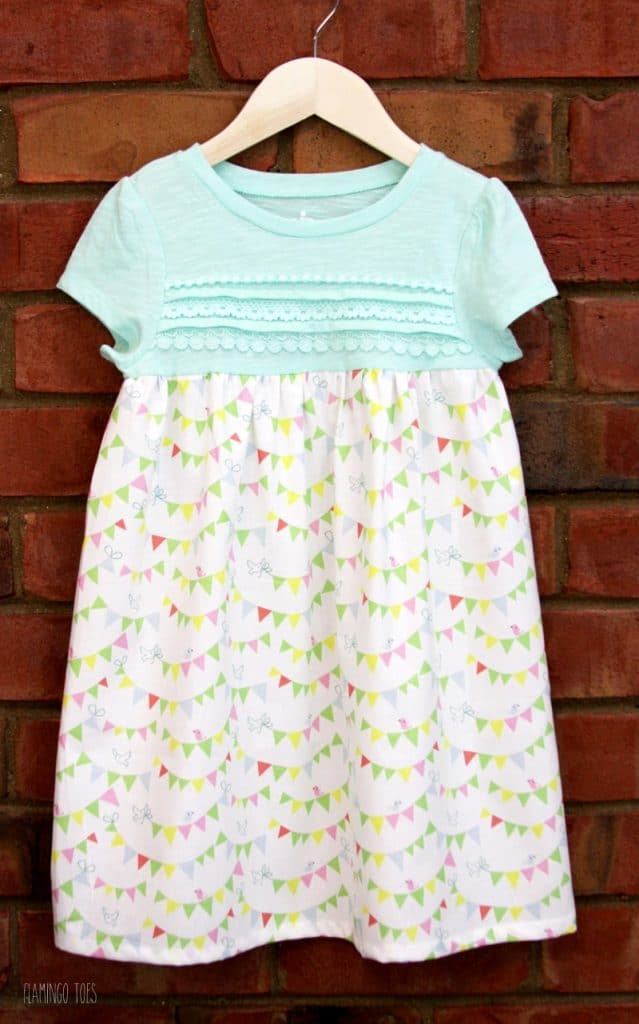 simple T-shirt dress pattern for girls
