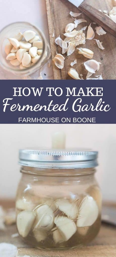 two pictures of fermented garlic