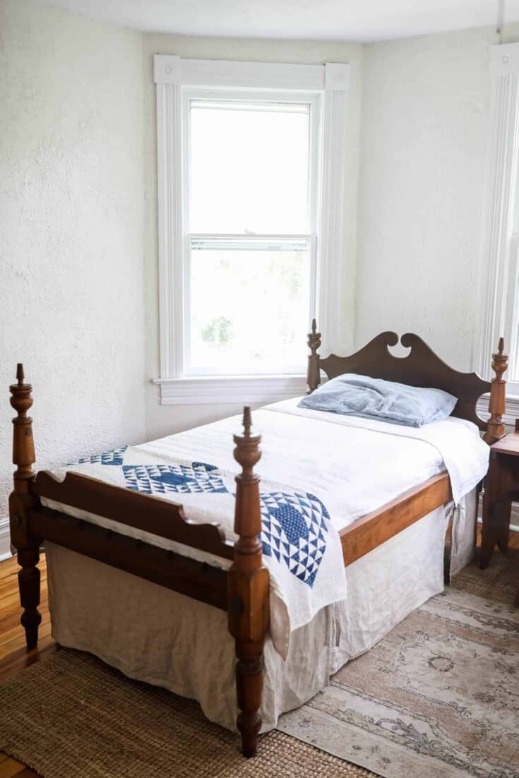 Diy Bed Skirt With Linen Farmhouse On Boone