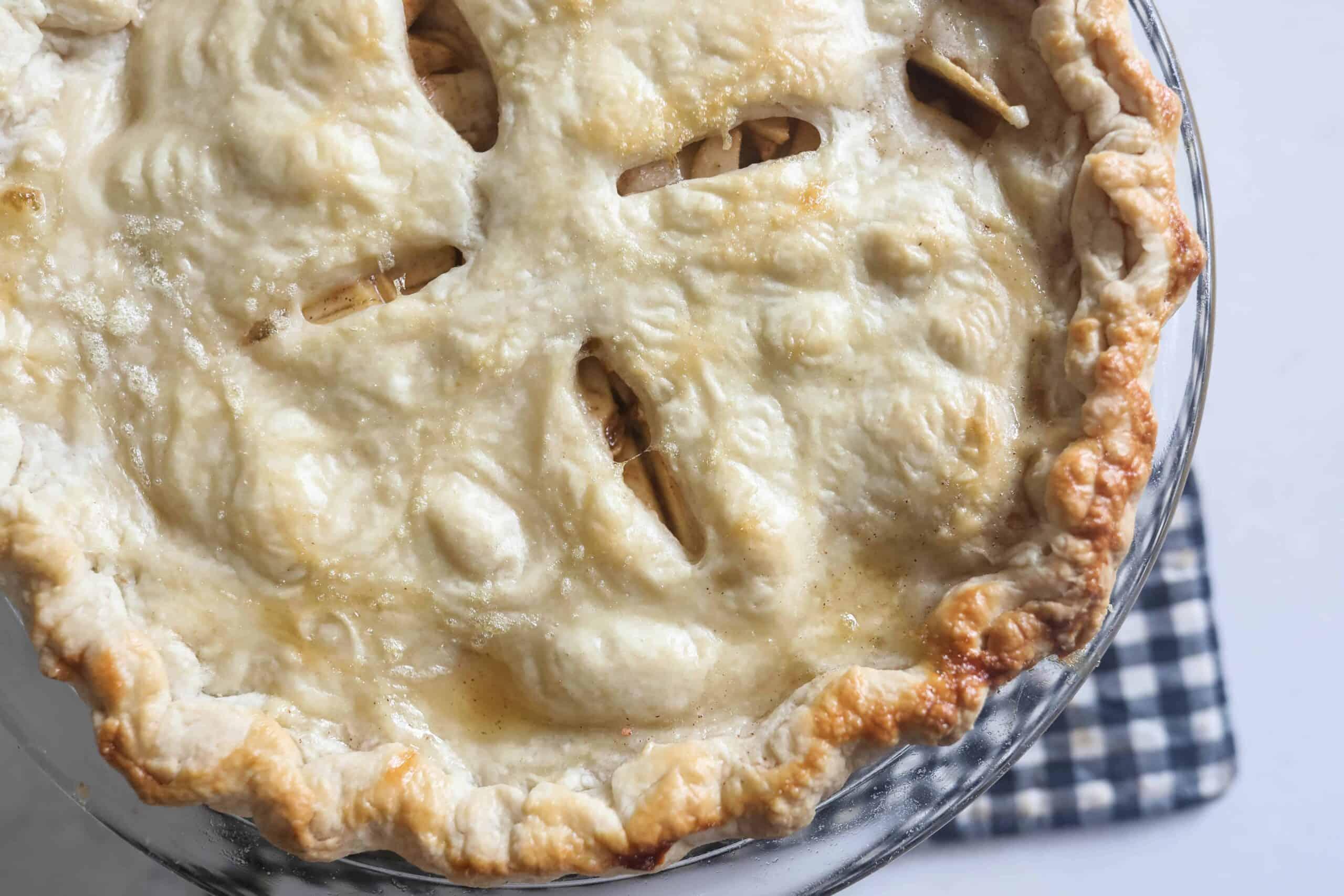 sourdough pie crust with golden brown edges