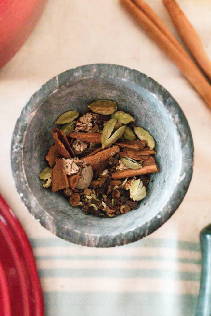 chai spices in a bowl